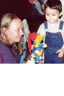 Foto Kind mit Kasperl